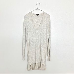 Theory Long Sleeve V-neck Sweater Dress